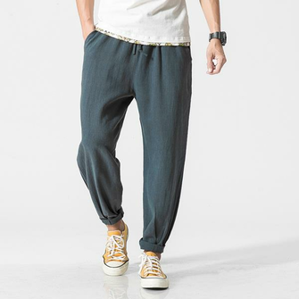 Men's Summer Loose Cotton Linen Pants