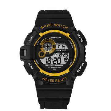 SANDA 302 Men Stopwatch Calendar Outdoor Sport Digital Watch