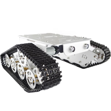 Silver/Golden T300 Aluminum Alloy Metal Wall-E DIY Tank Track Caterpillar Chassis Kit