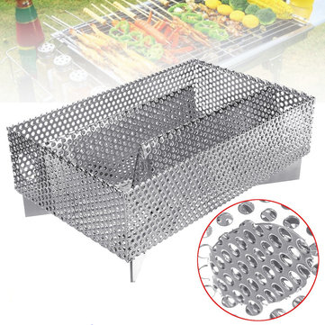 Stainless Steel Folding Simple BBQ Oven Outdoor Barbecue Charcoal Grill BBQ Cold Smoker Generator