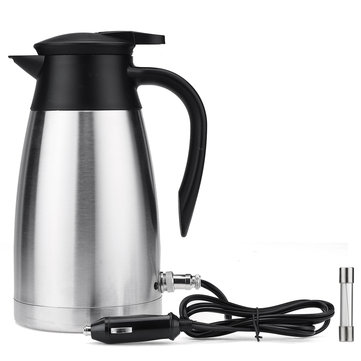 12V/24V 1000ml Portable Car Electric Kettle Stainless Steel Camping Travel AU