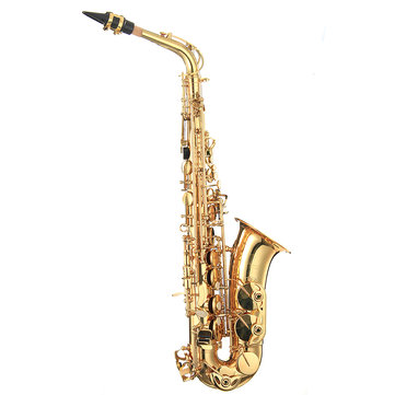 LADE Gold Brass Eb Alto Saxphone E Flat Saxophone Sax with Bag Clean Tools