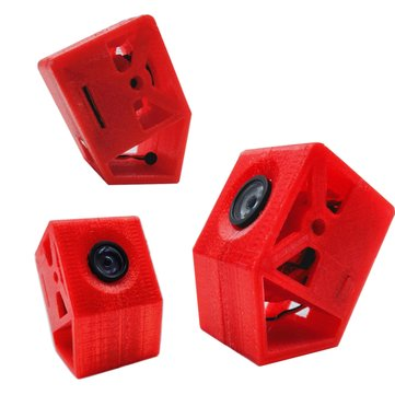 3D-printed TPU 30 Degree Tilt Racer Camera Case Fixed Base Mount For Caddx Turtle V2 Camera FPV RC Racing Drone