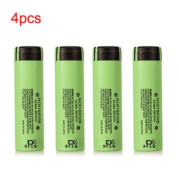 Незащищенный литиевый аккумулятор NCR18650B 3400mAh 3.7 V 4шт