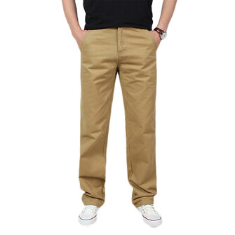 Spring Mens Casual Cotton Loose Solid Color Cargo Pants Outdoor Working Comfortable Trousers