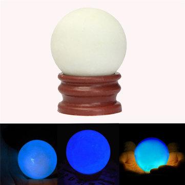 Luminous Pearl Glow In The Dark Stone Luminous Quartz Crystal Sphere Ball Night Pearl