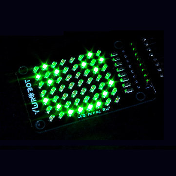 8x7 Green LED Dot Matrix Display Module Electronic Building Blocks For Arduino