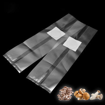 10Pcs 250x500x0.06mm PVC Mushroom Spawn Grow Bag Substrate High Temp Pre Sealable Garden Supplies
