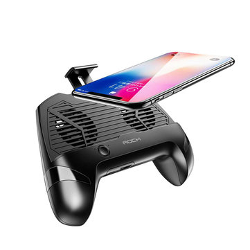 ROCK Gamepad Controller Phone Holder Double Cooling Fan With Power Bank For 4-6.7 inch Phones