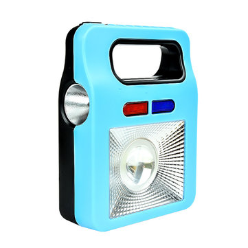 158C LED 4Modes Front+Side Light USB Charging Portable Warning Light Flashlight & Powerbank