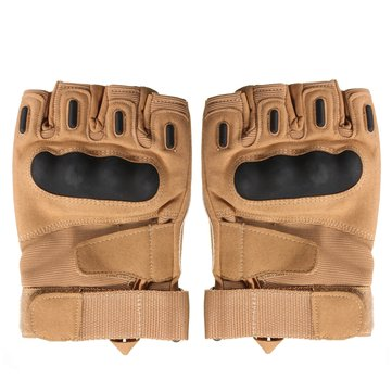 Motorcycle Riding Knuckle Military Tactical Airsoft Half Finger Gloves