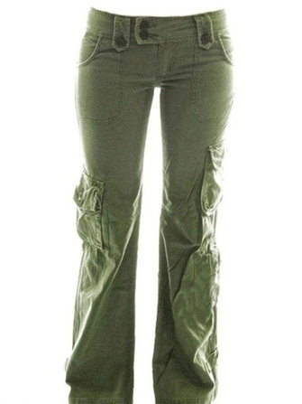 Women Solid Color Hiking Tactical Climbing Trousers Pants