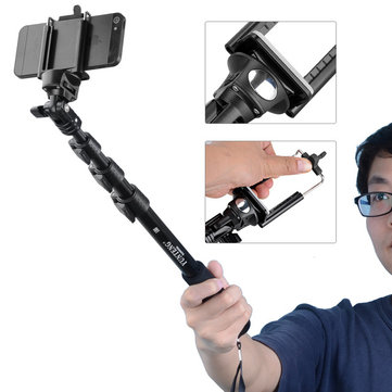 Yunteng 188 Handheld Extendable Selfies Camera Monopod Tripod Selfie Stick for Mobile Phone