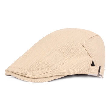 Men Washable Cotton Breathable Peaked Caps Outdoor Leisure Literary Youth Beret Hat