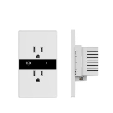 Smart WIFI Wall Outlet Plug Duplex Receptacle Switch Wireless In-Wall Socket