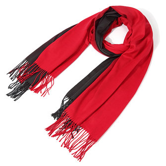 Women Patchwork Cashmere Scarf With Tassel Thickening Warm Gradient Shawls Scarves