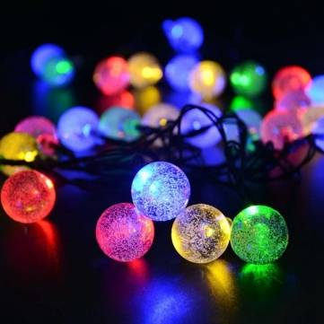 4.8M 30 LED Solar Powered Ball String Light For Wedding Christmas Garden Outdoor Decoration