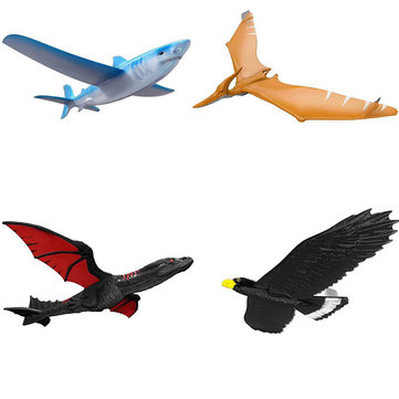 EPP Airplane Hand Launch Throwing Glider Aircraft Inertial Foam Dragon Eagle Shark Plane Toy Model