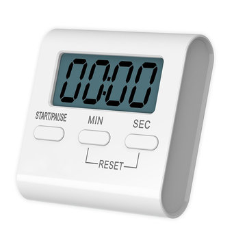 Loskii KC-10 Digital Kitchen Timer Big Digits Loud Alarm Magnetic Backing Stand for Cooking Baking