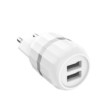 HOCO C41A Universal Dual USB EU 5V 2.1A USB Charger for Mobile Phone with Micro Cable