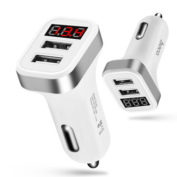 HOCO Z3 2U Digital Display 5V 3.1A Dual USB Car Charger for iPhone X Samsung S8 S9 Note 8 Plus