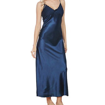 Silk Split Sexy Sling Home Service Women Sleepwear Long Skirt