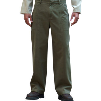Mens Comfy Loose Big Front Pocket Buttons Straight Casual Pants