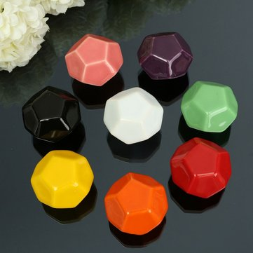 Ceramic Diamond Shape Furniture Knobs Door Handle Cupboard Cabinet Drawer