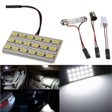 18 SMD 5630 T10 Car LED Dome Door Box Light Panel Interior Bulb