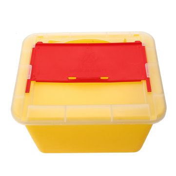 Puncture Resistant Plastic Shell Storage Box Sharps Case