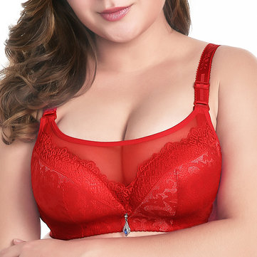 Full Cup Coverage U Shape Adjusted Breathable Bra 36-42 Underbust