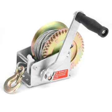 1 Ton 1200 lbs Boat Winch Manual Hand Crank for RV Trailer ATV