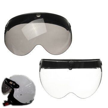 3 Snap Flip Up Helmet Visor Shield Lens Universal for Open Face Motorcycle Helmet