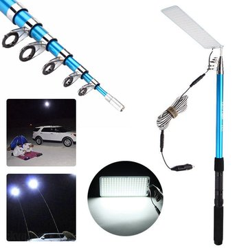 500W Adjustable 5M LED Fishing Lamp Car Camping Light Outdoor Barbecue White Light DC12V