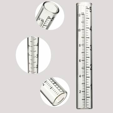 5Inch Capacity Glass Rain Gauge Rainfall Pipe