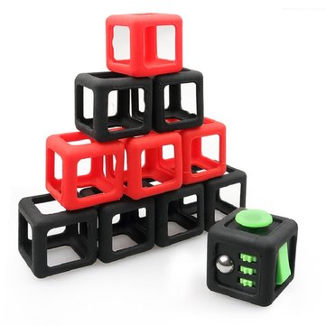 Fidget Dice Vinyl Desk Cube Toy Protective Cove Anti Irritability Magic Funny Children Gifts