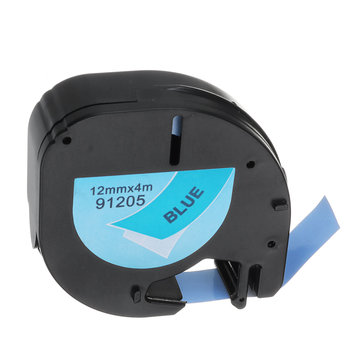 DYMO LetraTag Label Tape 91205 Black on Blue Paper 12mm x 4M for DYMO Label Printer