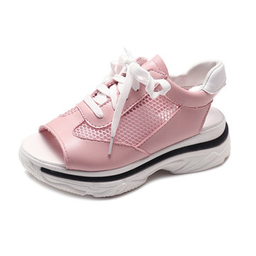 S-5121056 Female Casual Movement Sandals Beach Shoes Fish Mouth Open Toe Thick Bottom