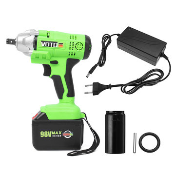 VOTO 98V 15.6Ah Li-ion Battery Electric Wrench Cordless Rechargeable High Torque Impact Wrench LED
