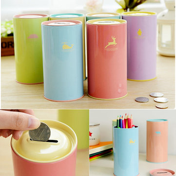 Piggy Bank Saving Coin Money Tin Boxes Cartoon Zoo Collection Gift For Kids Toy