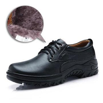 Новые люди осень зима вскользь удобные открытый резиновые бизнеса leatherboots обувь