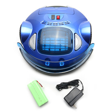 Blue Smart Automatic Vacuum Cleaner Robot Wireless Remote Control Floor Dust Cleaner Sweeper