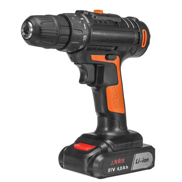 21V 4000mAh Cordless Power Drills 18+1 Electric Screw Driver Rechargeable with 1 Li-ion Battery