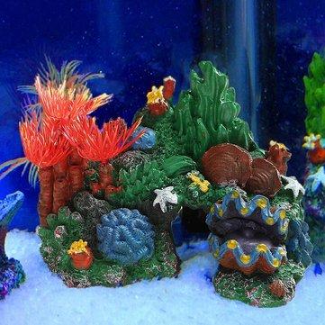 Dağ Manzaralı Balık Tankı Akvaryum Dekor Yaşayan Resif Akvaryum Süsleme