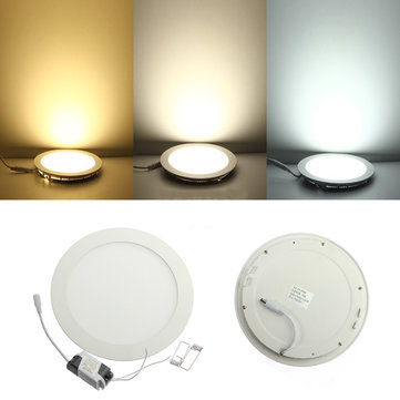 Dimmable Ultra Thin 18W LED Ceiling Round Panel Down Light Lamp