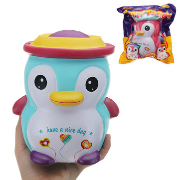 JJC_SS Squishy Jumbo 18cm Happy Penguin Kawaii Soft Slow Rising Toy Gift With Original Package