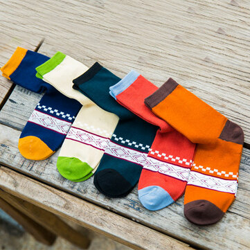 Men's Thickened Combed Tube Cotton Socks Creative Tide Pattern Knitting Warm Harajuku Socks