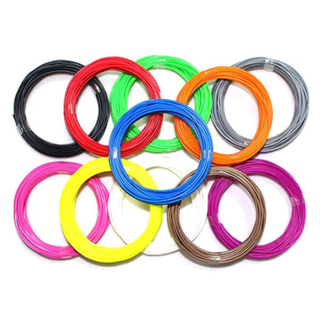 1.75mm 20 Color ABS 3D Printing Pen Filament 5m Per Colorful
