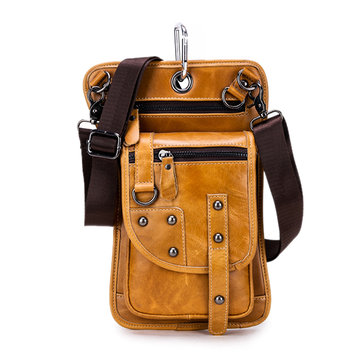 Ekphero® Mannen Vintage Taille Bag Reis Fanny Pack Belt Loops Hip Bum Bag