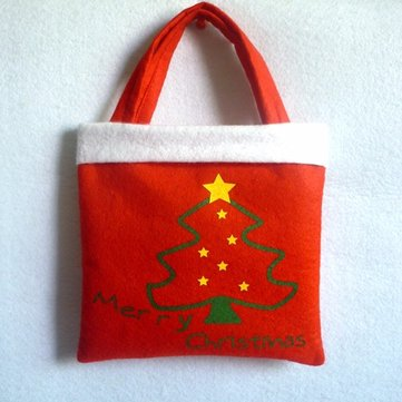 Christmas Tree Snowman Decoration Xmas Gift Bag Candy Pouch Stocking Bag